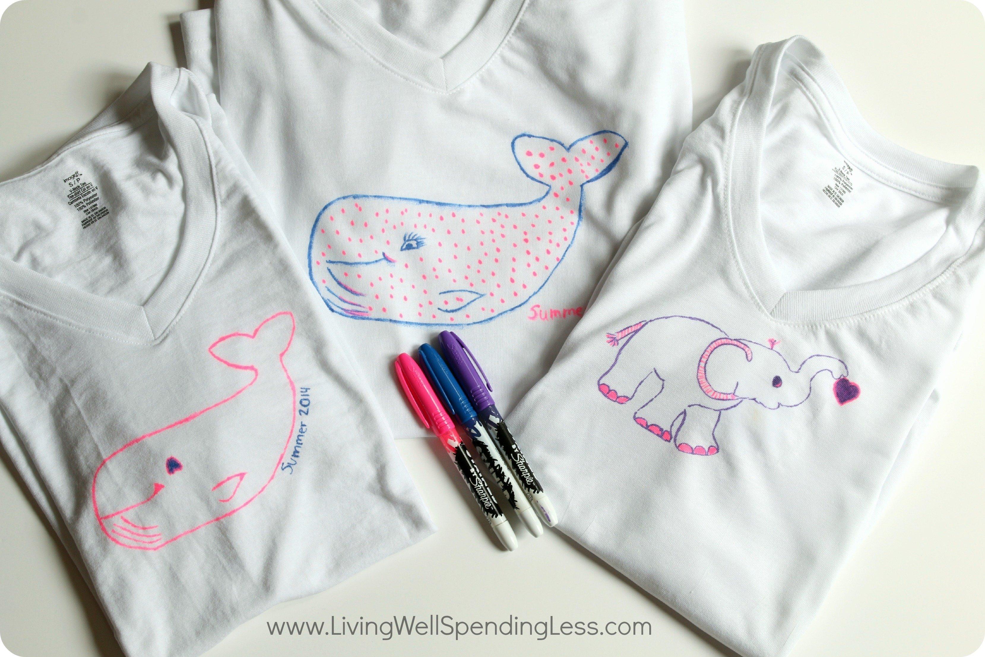 10 Gorgeous Diy T Shirt Design Ideas diy sharpie stained t shirts diy t shirt diy crafts diy 2020