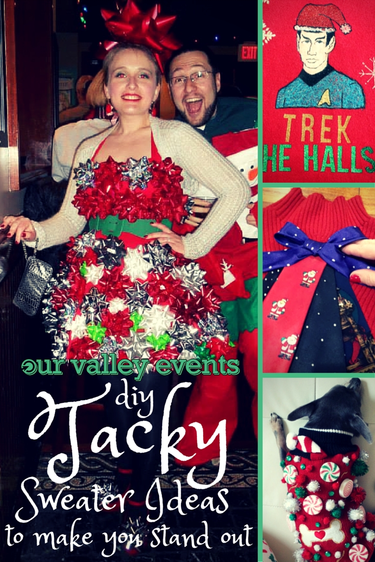 10 Awesome Ugly Christmas Sweater Ideas For Couples diy tacky christmas sweater ideas our valley events 5 2020