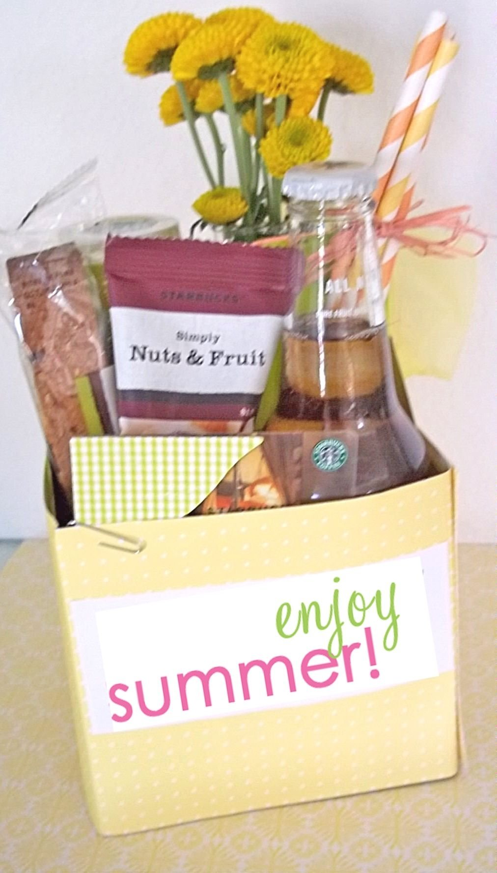 diy teacher gift | teacher, gift and frappuccino bottles