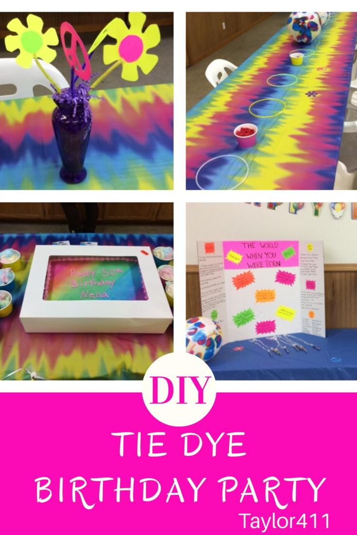 diy tie dye birthday party | kid birthday parties | pinterest | diy