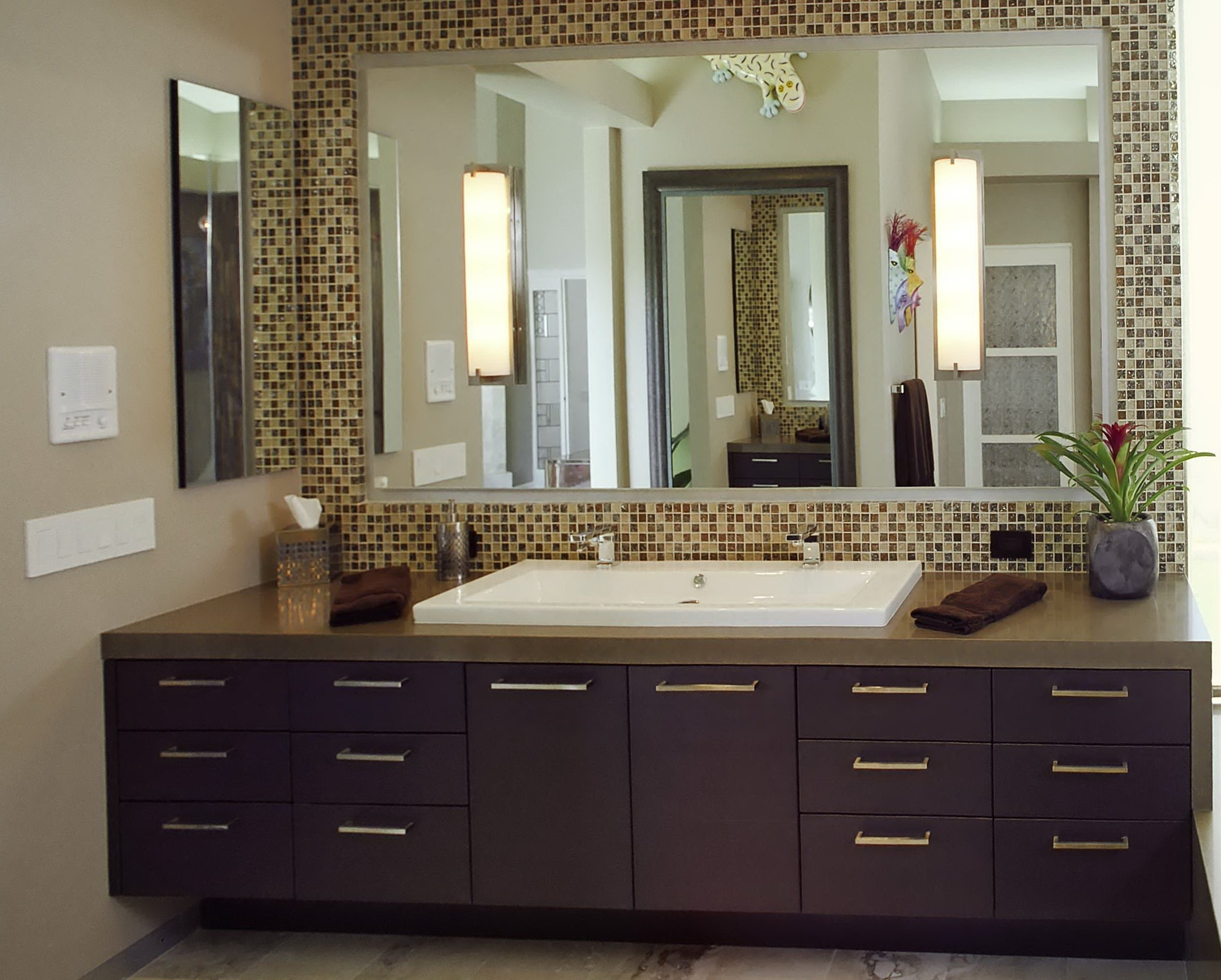 10 Lovable Diy Bathroom Mirror Frame Ideas diy tile framed bathroom mirror e280a2 bathroom mirrors ideas 2020