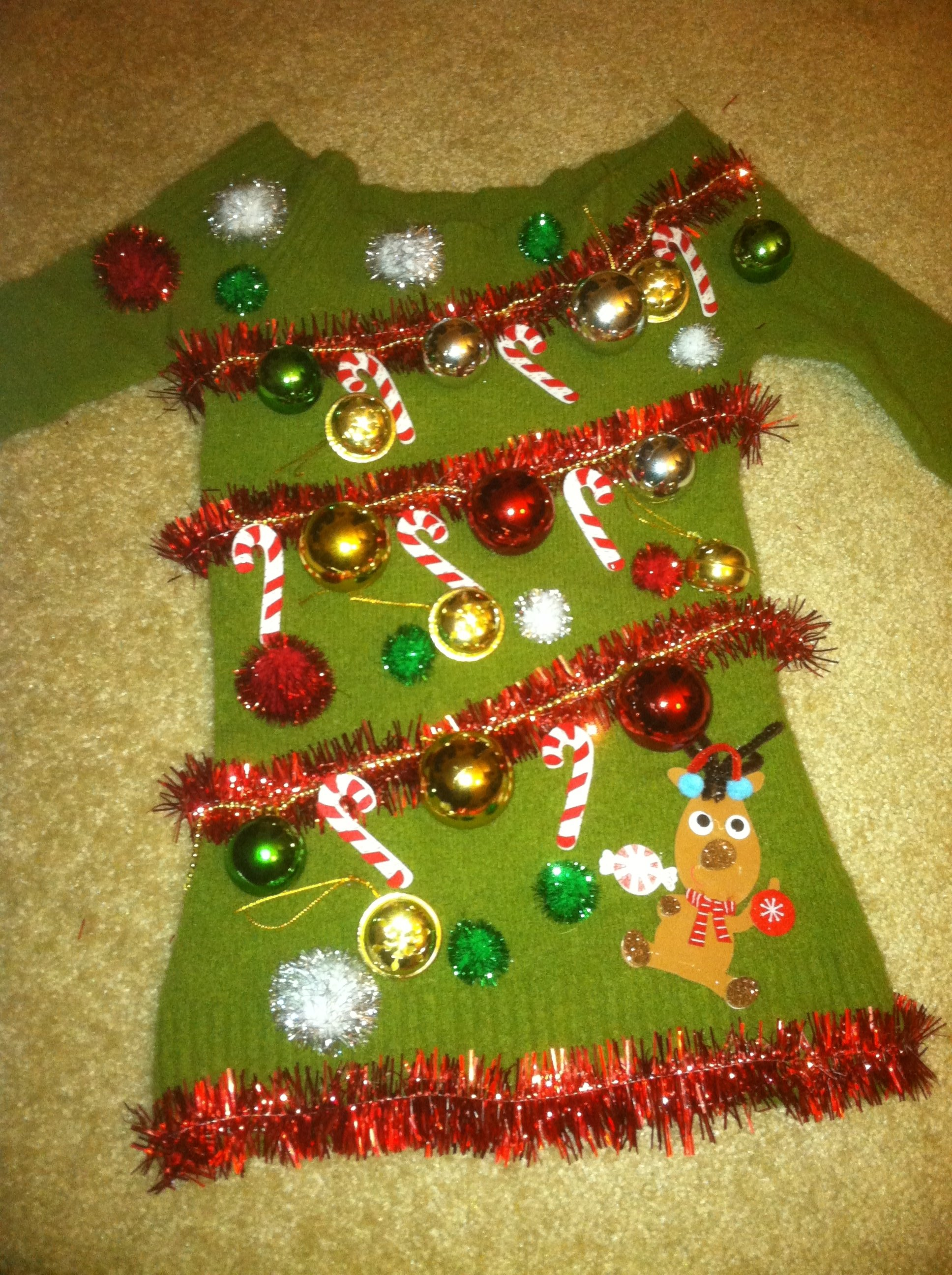 10 Stunning Ugly Christmas Sweater Ideas Homemade diy ugly christmas sweaters that prove youre awesome sweater ideas 1