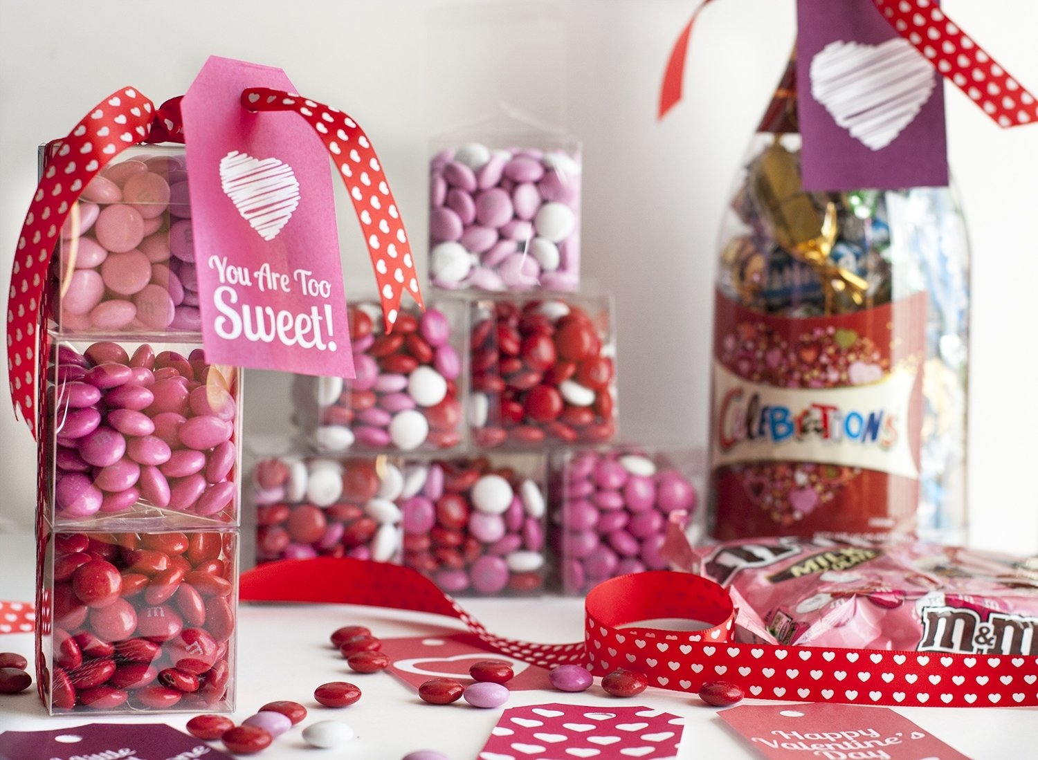 10 Awesome Cute Valentines Day Ideas For Girlfriend diy valentines day gift mini candy boxes printable gift tags 1 2020