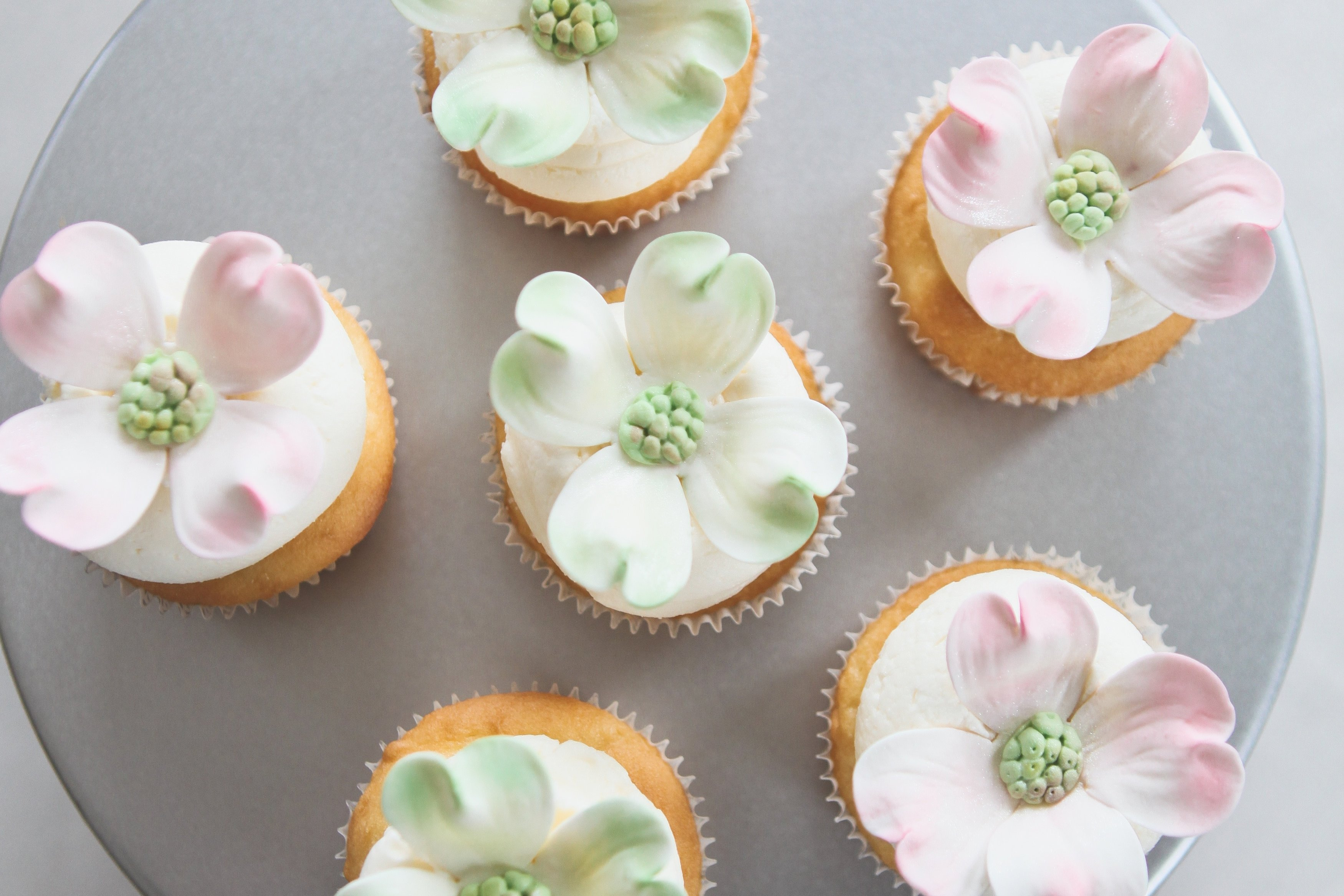 10 Beautiful Cupcake Ideas For Bridal Shower diy virginia dogwood bridal shower cupcakes united with love 2020