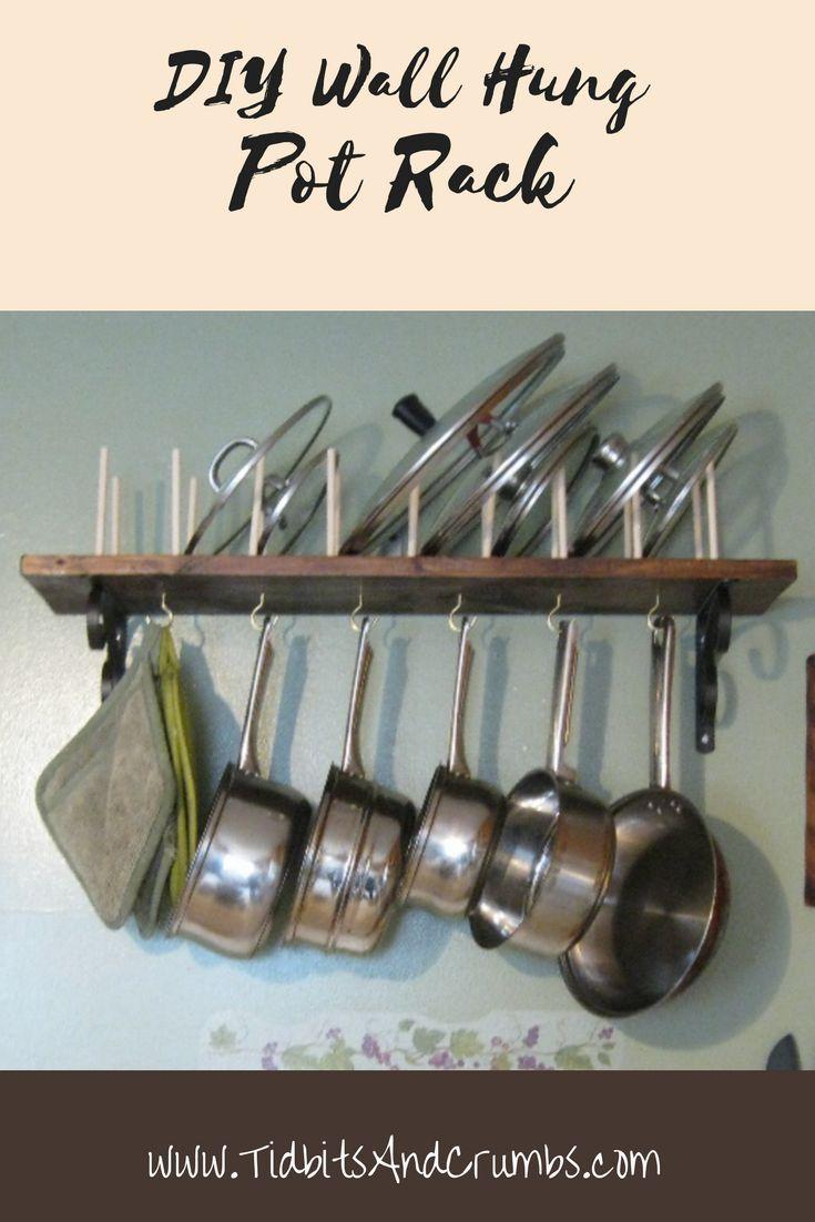 10 Spectacular Wall Mount Pot Rack Ideas diy wall mounted pot rack for the home diy kitchen shelves pot 2020