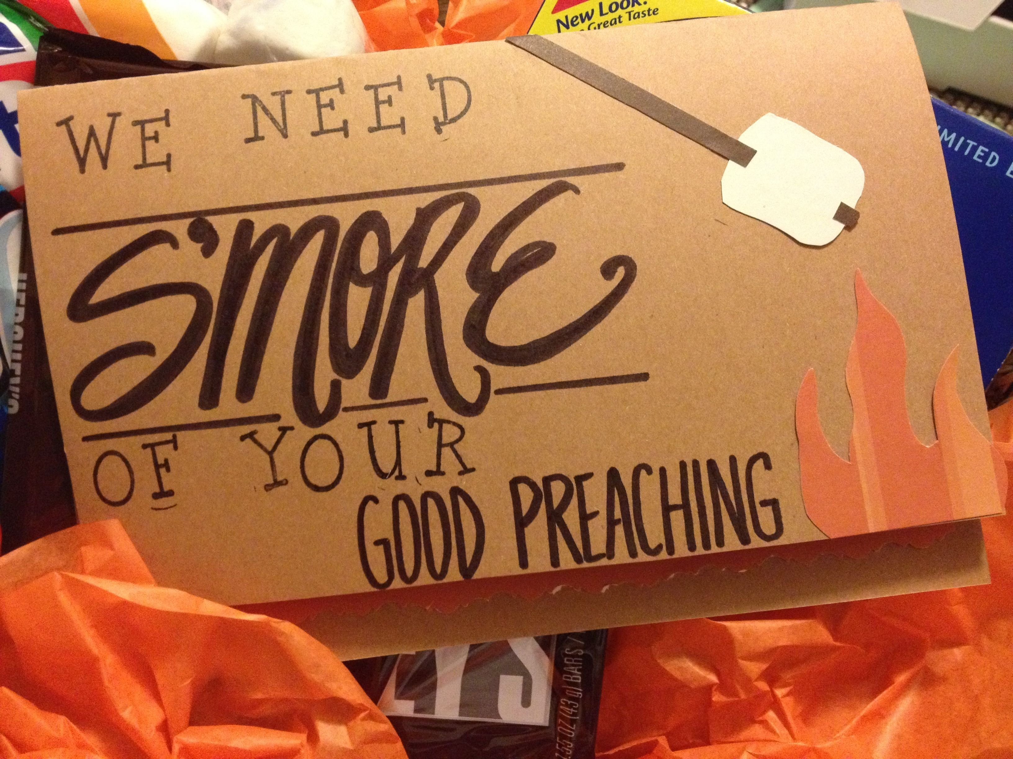 10 Fantastic Gift Ideas For Pastor Appreciation Day diy we need smore of your good preaching card for a pastor or 1