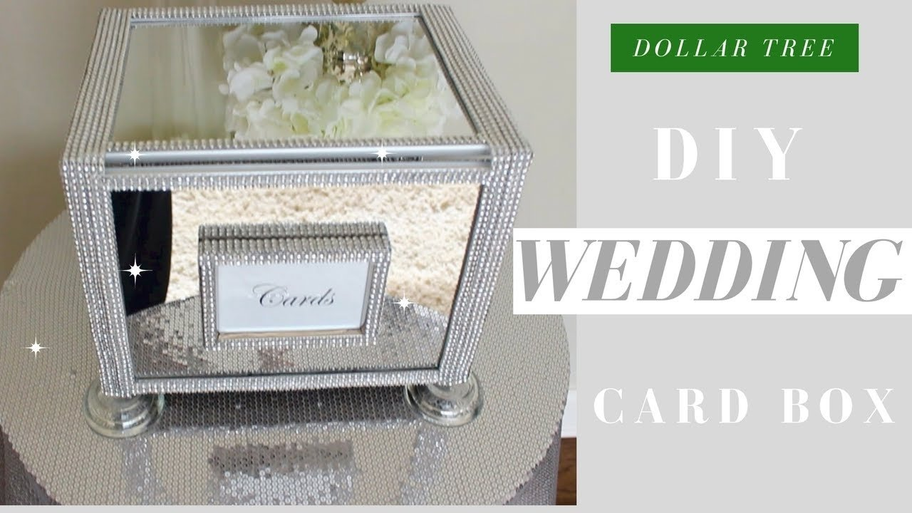 10 Most Popular Card Box Ideas For Wedding diy wedding card box dollar tree bling wedding card box youtube 2020