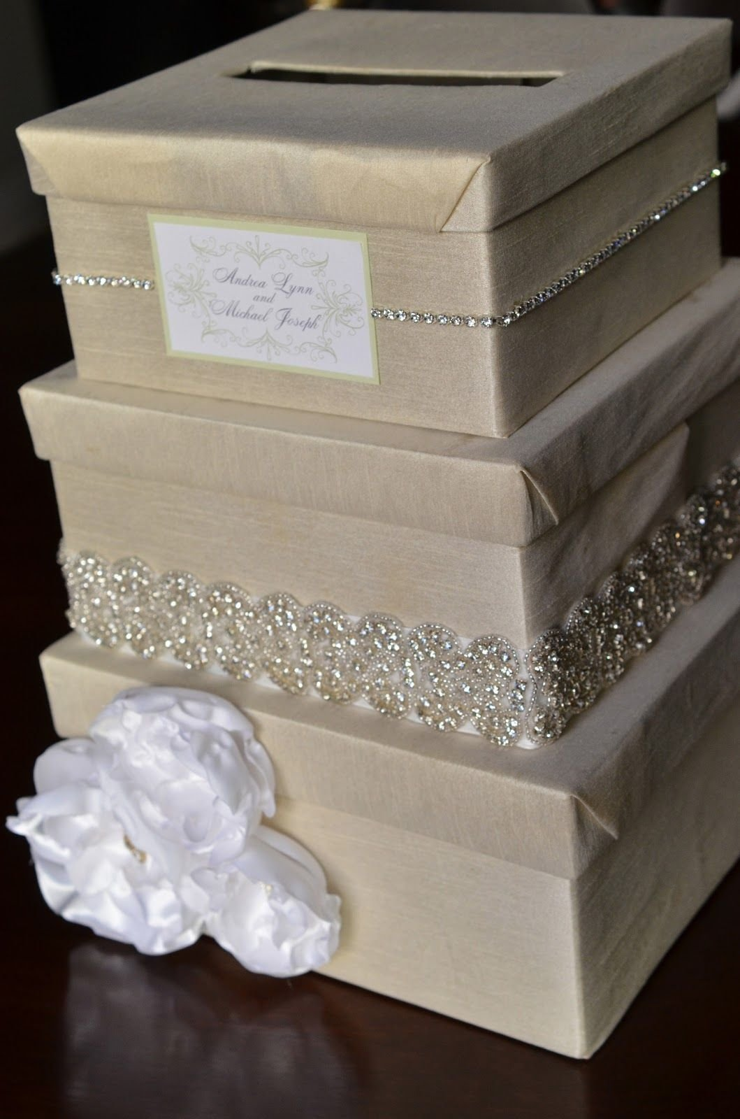 10 Unique Diy Wedding Card Box Ideas diy wedding card box i would do ivory and coral but think its a