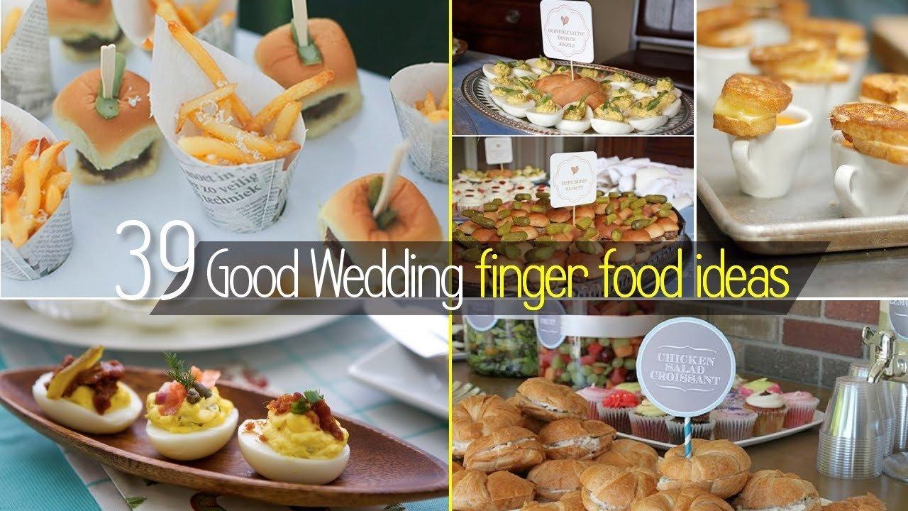 10 Cute Simple Wedding Reception Food Ideas