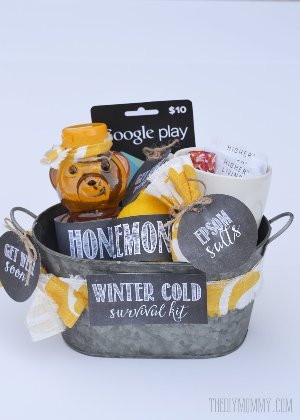 10 Awesome Get Well Soon Gift Ideas diy winter cold survival kit a get well soon gift basket idea with 1