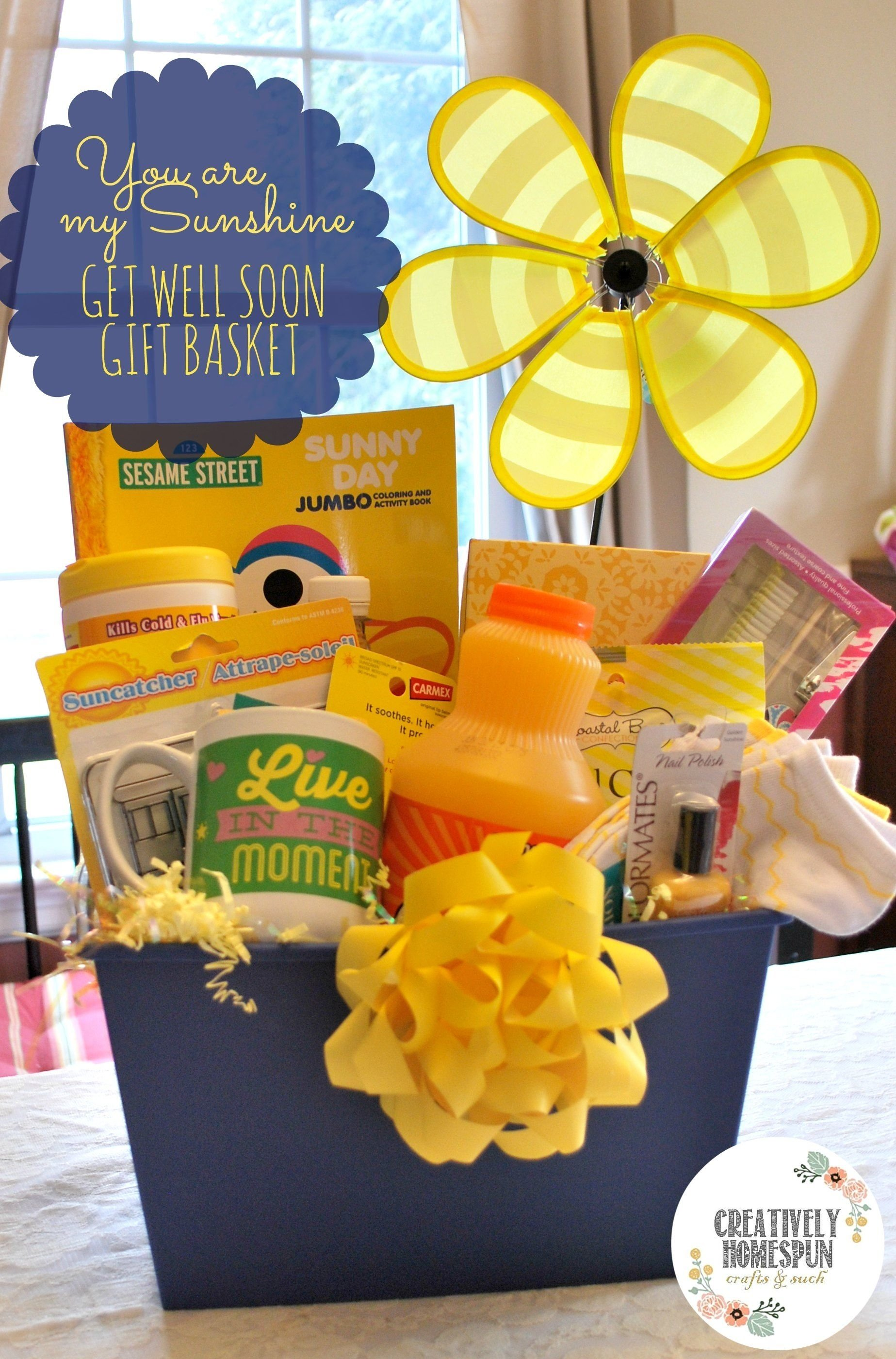 10 Nice Get Well Soon Basket Ideas diy you are my sunshine get well gift basket sunshine gift and 1 2021