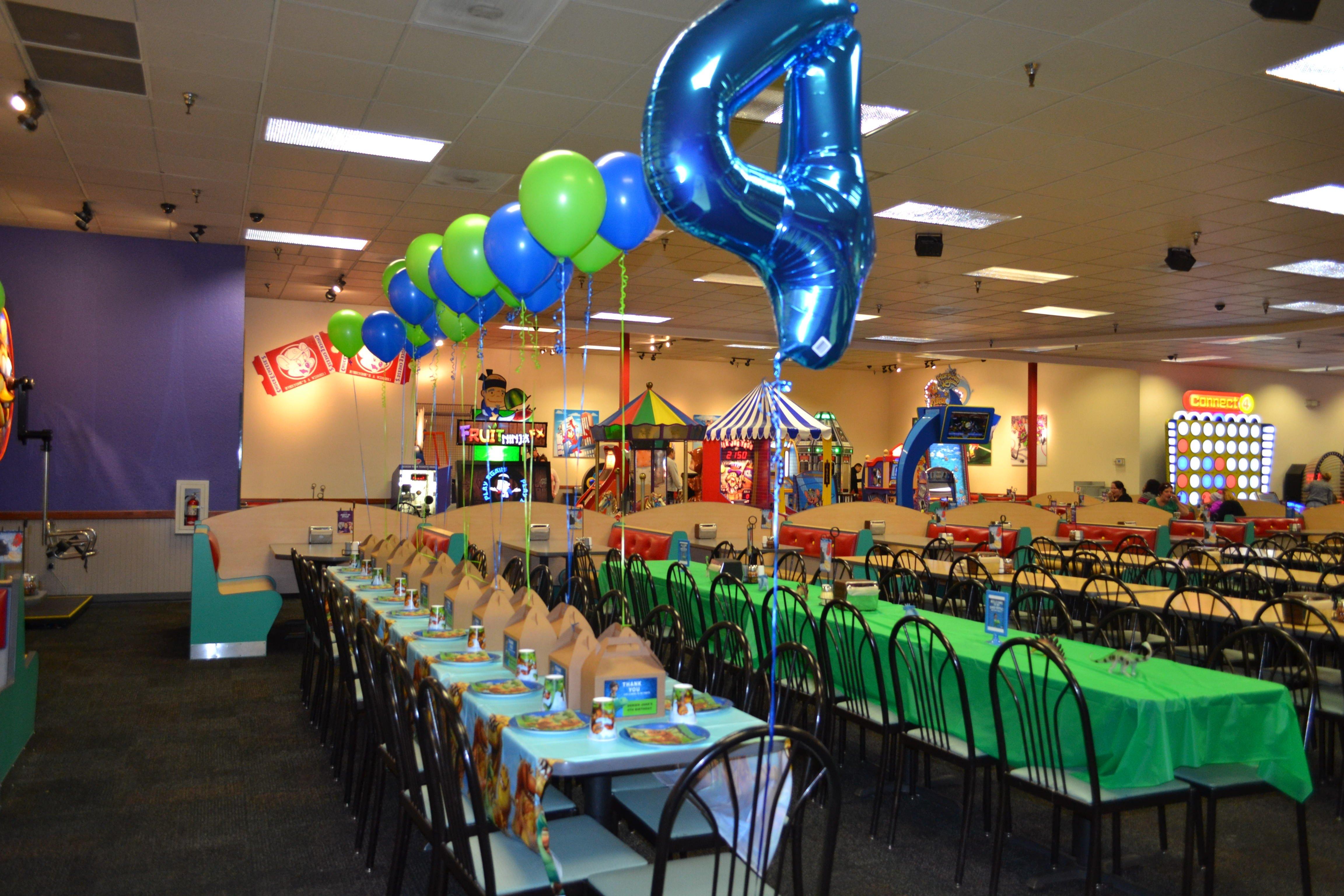 10 Elegant Chuck E Cheese Party Ideas djs 4th birthday chuck e cheese party the good dinosaur theme 2020