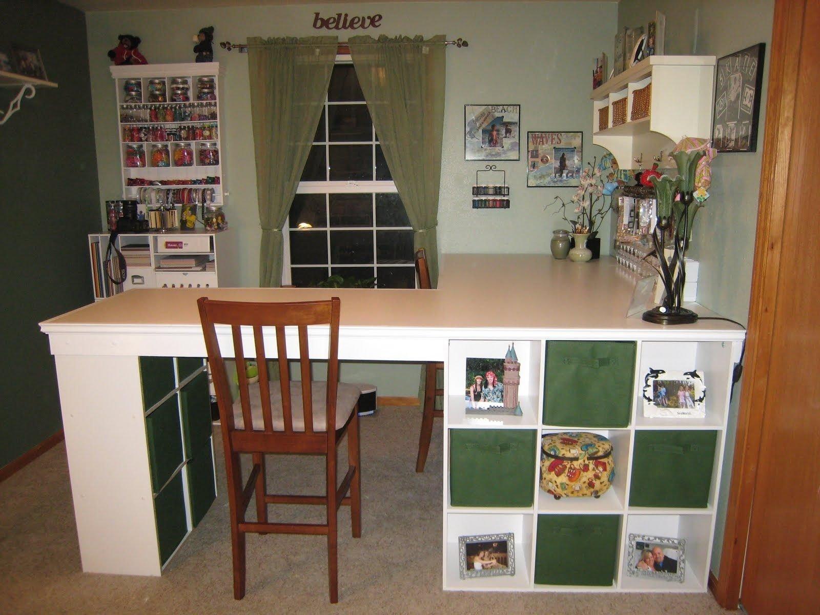 10 Elegant Do It Yourself Storage Ideas do it yourself white craft desk how to build a custom craft desk 2021