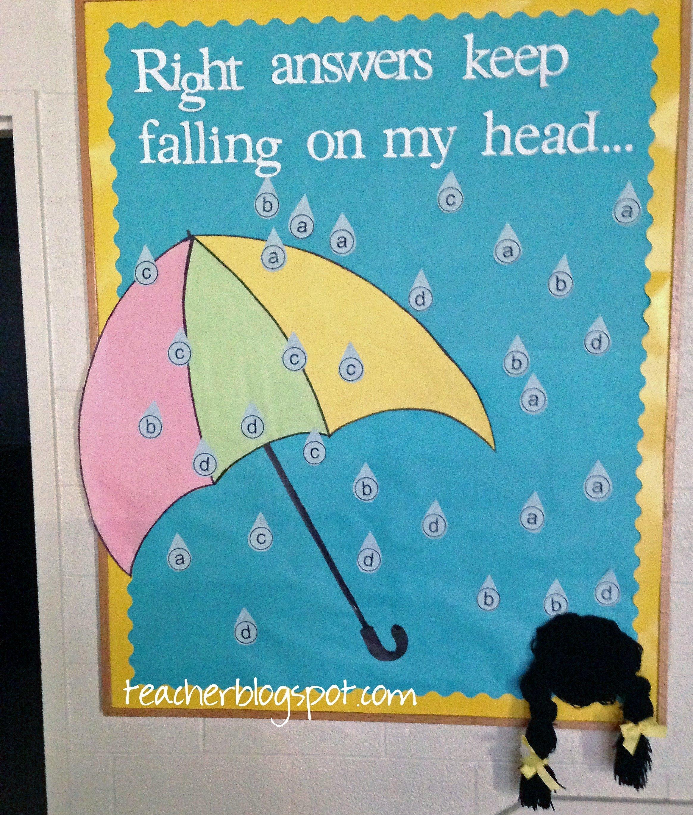 10 Attractive April Showers Bulletin Board Ideas do you need an april bulletin board idea teacher blog spot 2021