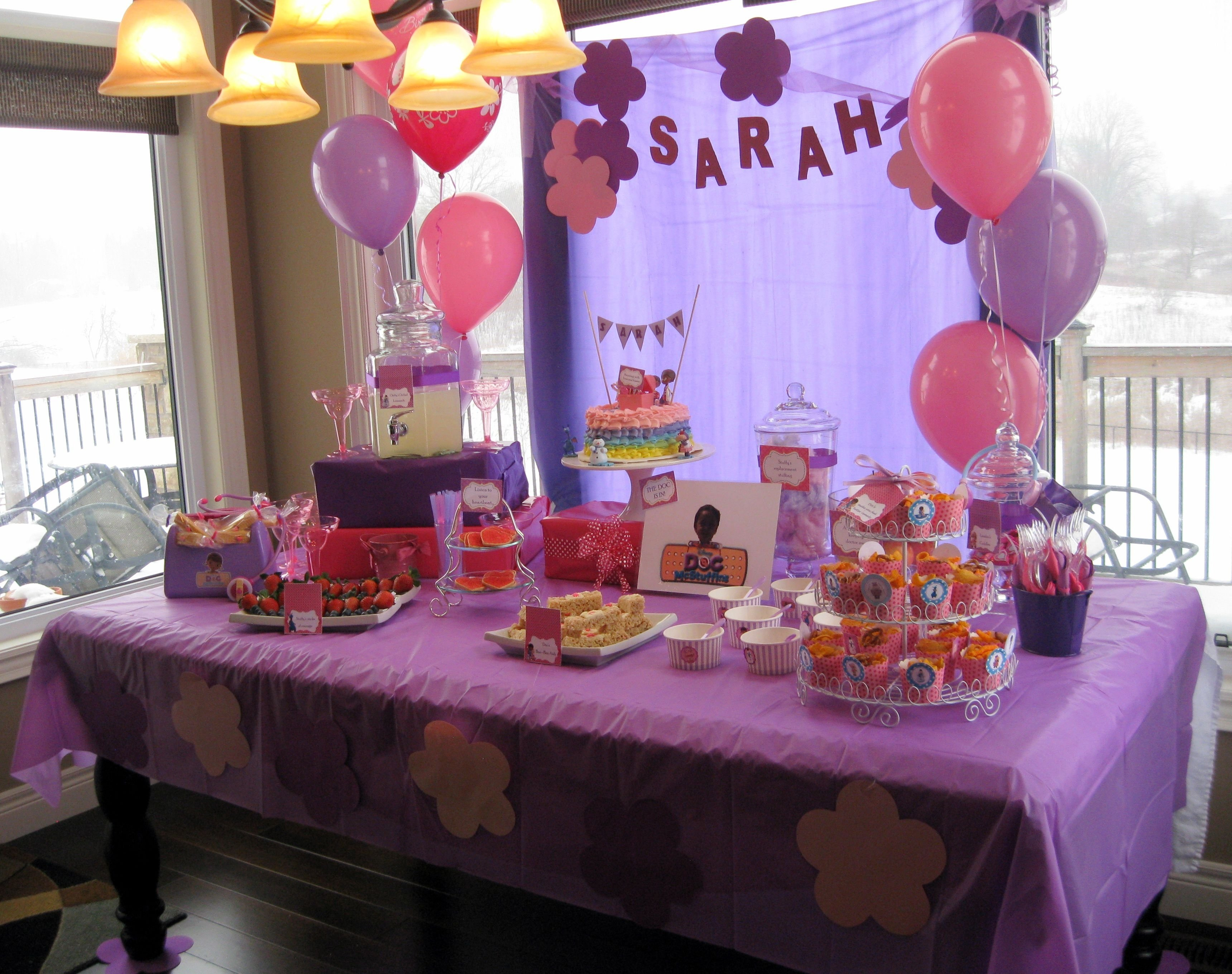 10 Lovely Doc Mcstuffins Birthday Party Ideas doc mcstuffins birthday party table decor kyndalls 3rd birthday 1 2020