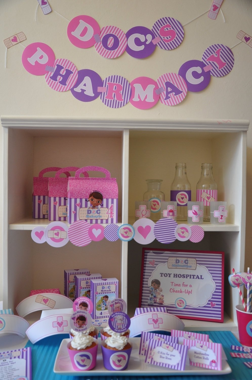 doc+mcstuffins+party+decorations+package++by+glitterinkdesigns,+$