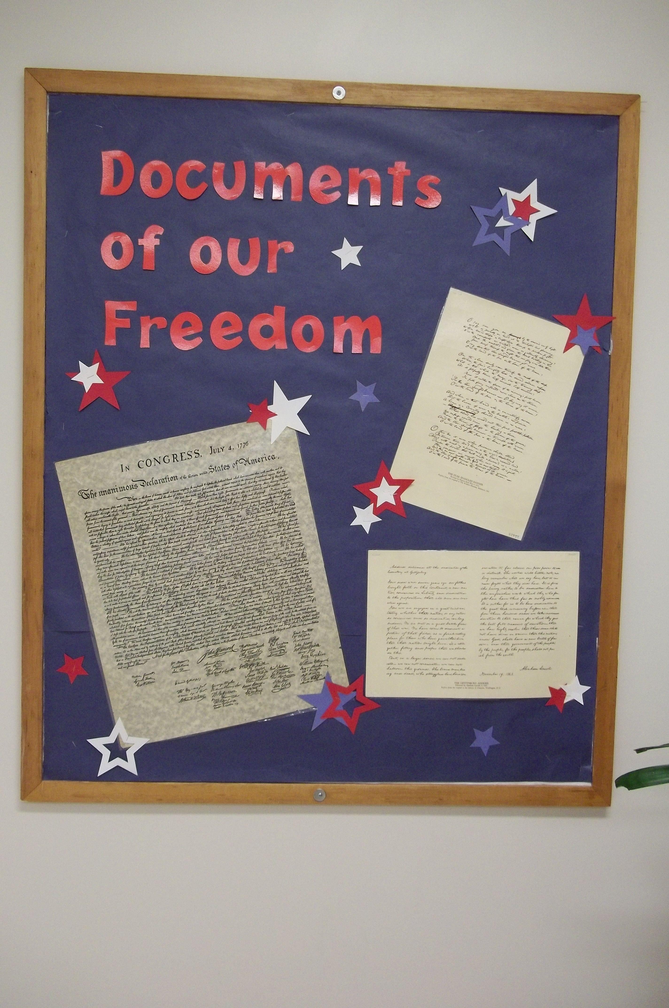 10 Stylish Fourth Of July Bulletin Board Ideas documents of our freedom 4th of july bulletin board bulletin 1 2021