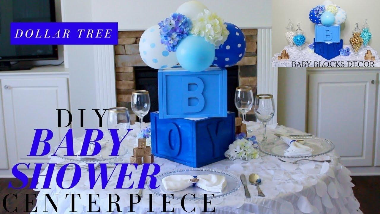 dollar tree diy baby shower decor | diy boy baby shower centerpiece