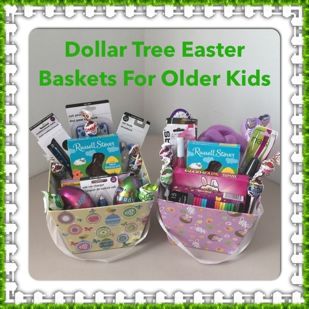 10 Ideal Easter Gift Ideas For Teenagers dollar tree easter baskets for older kids youtube 3 2020