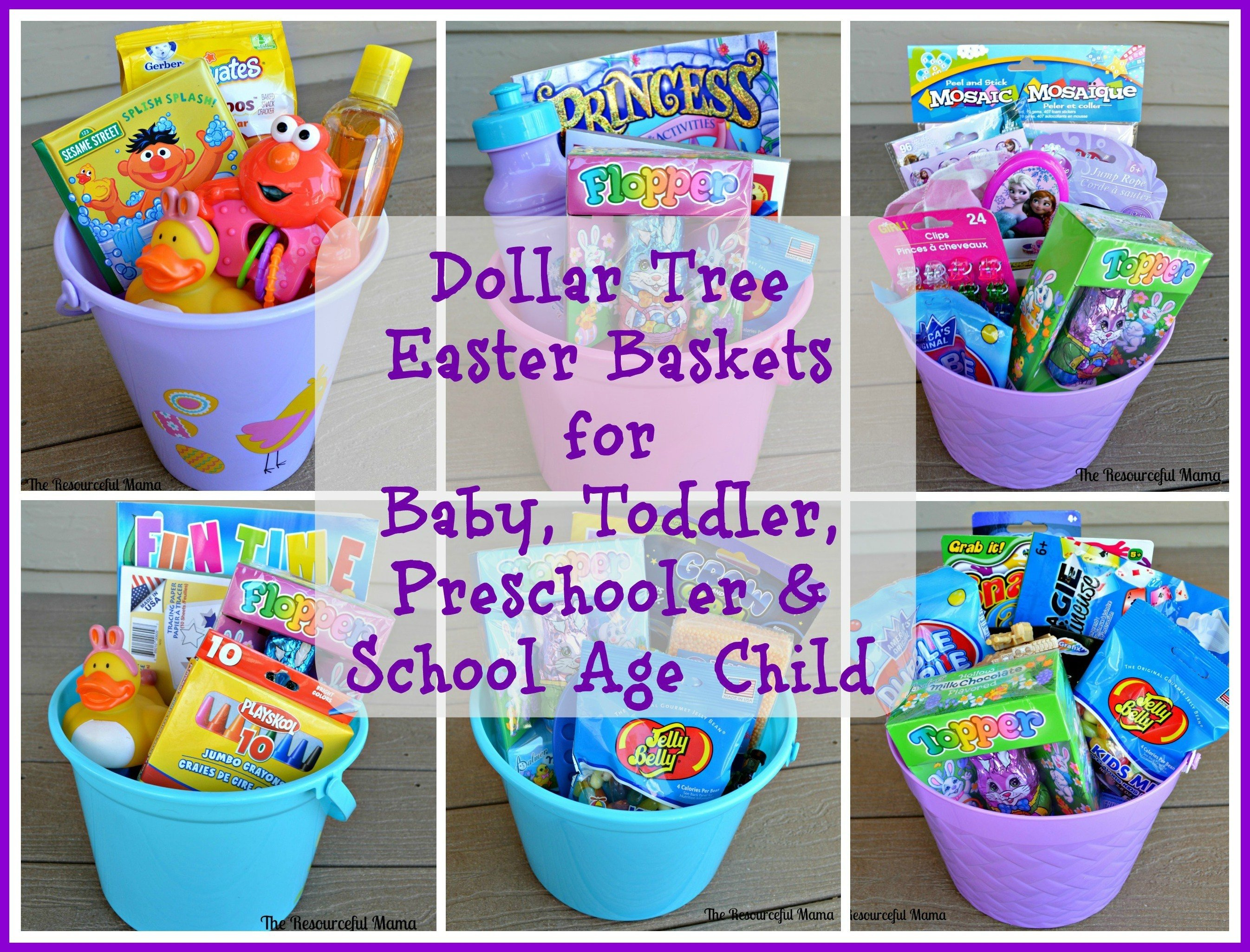 10 Great Easter Basket Ideas For Babies dollar tree easter baskets the resourceful mama 2 2021