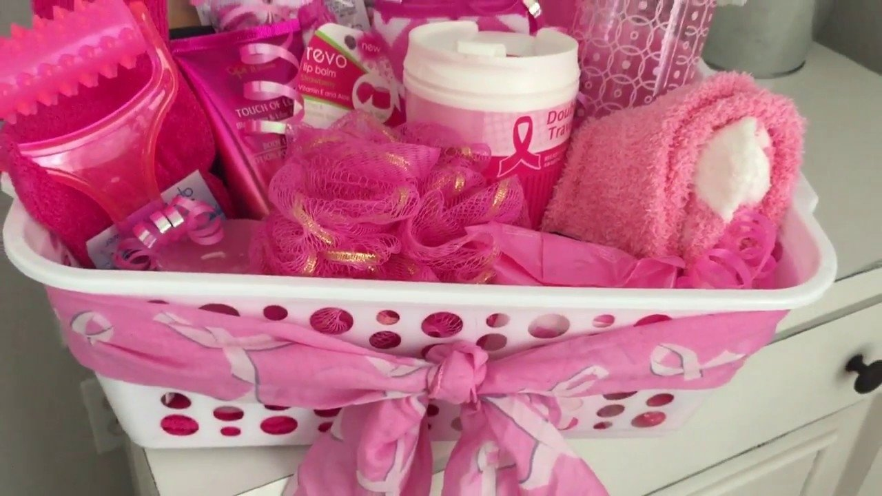 10 Famous Gift Ideas For Breast Cancer Patients dollar tree gift basket breast cancer youtube 2020