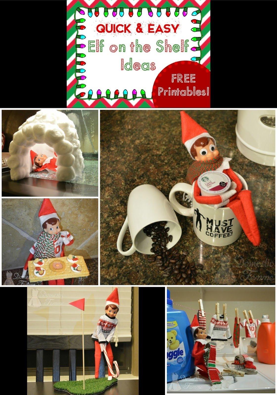 10 Stunning Elf On The Shelf Creative Ideas domestic femme elf on the shelf 2015 calendar with free printables 2 2020
