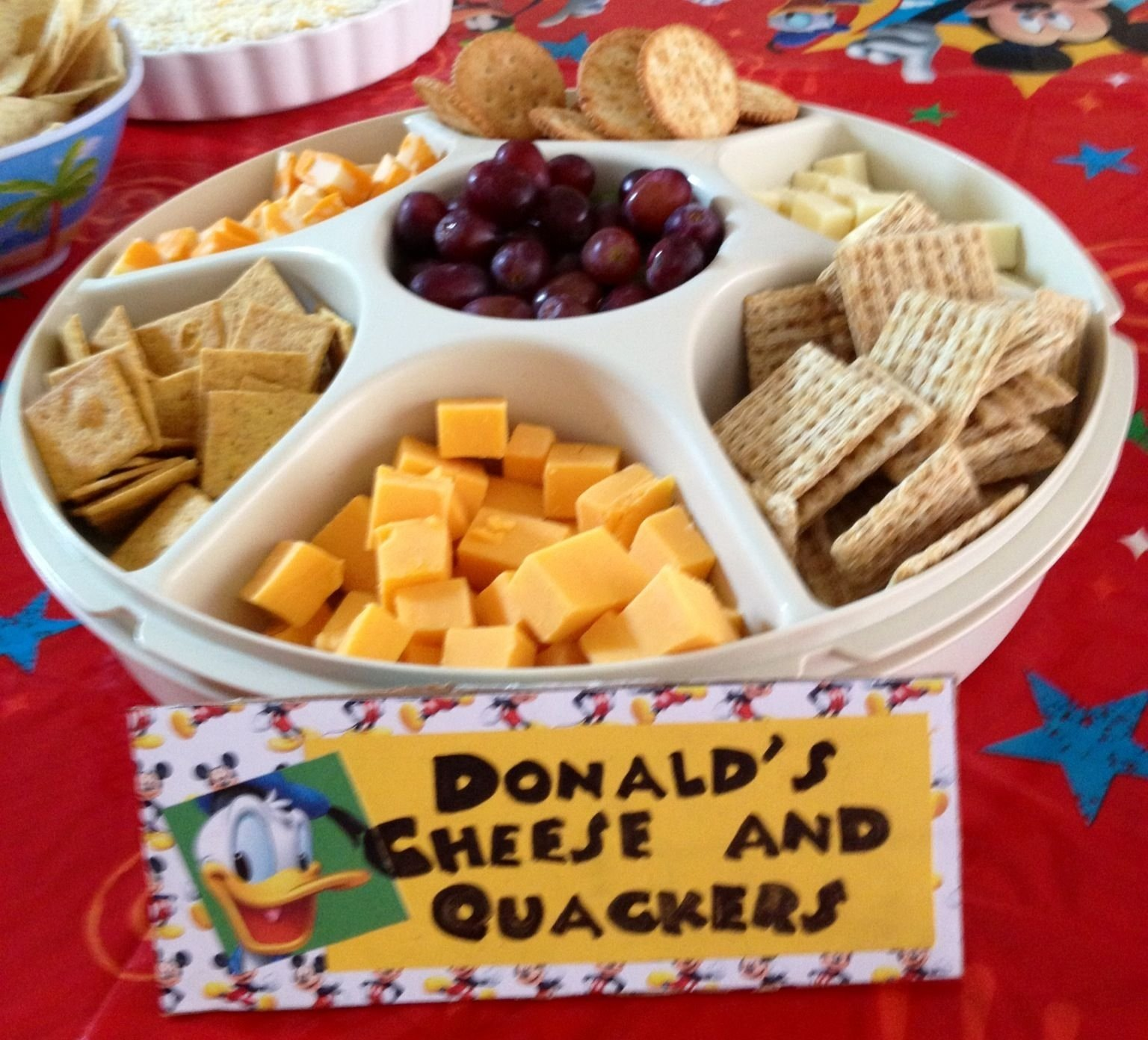 10 Awesome Mickey Mouse Party Food Ideas donalds cheese and quackers kids party pinterest birthday 3