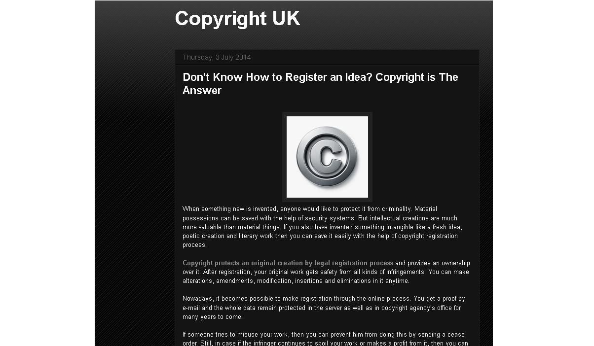 don't know how to register an idea? copyright is the answer