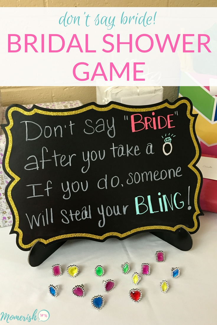 10 Spectacular Funny Bridal Shower Game Ideas dont say bride bridal shower game fun bridal shower games 2020