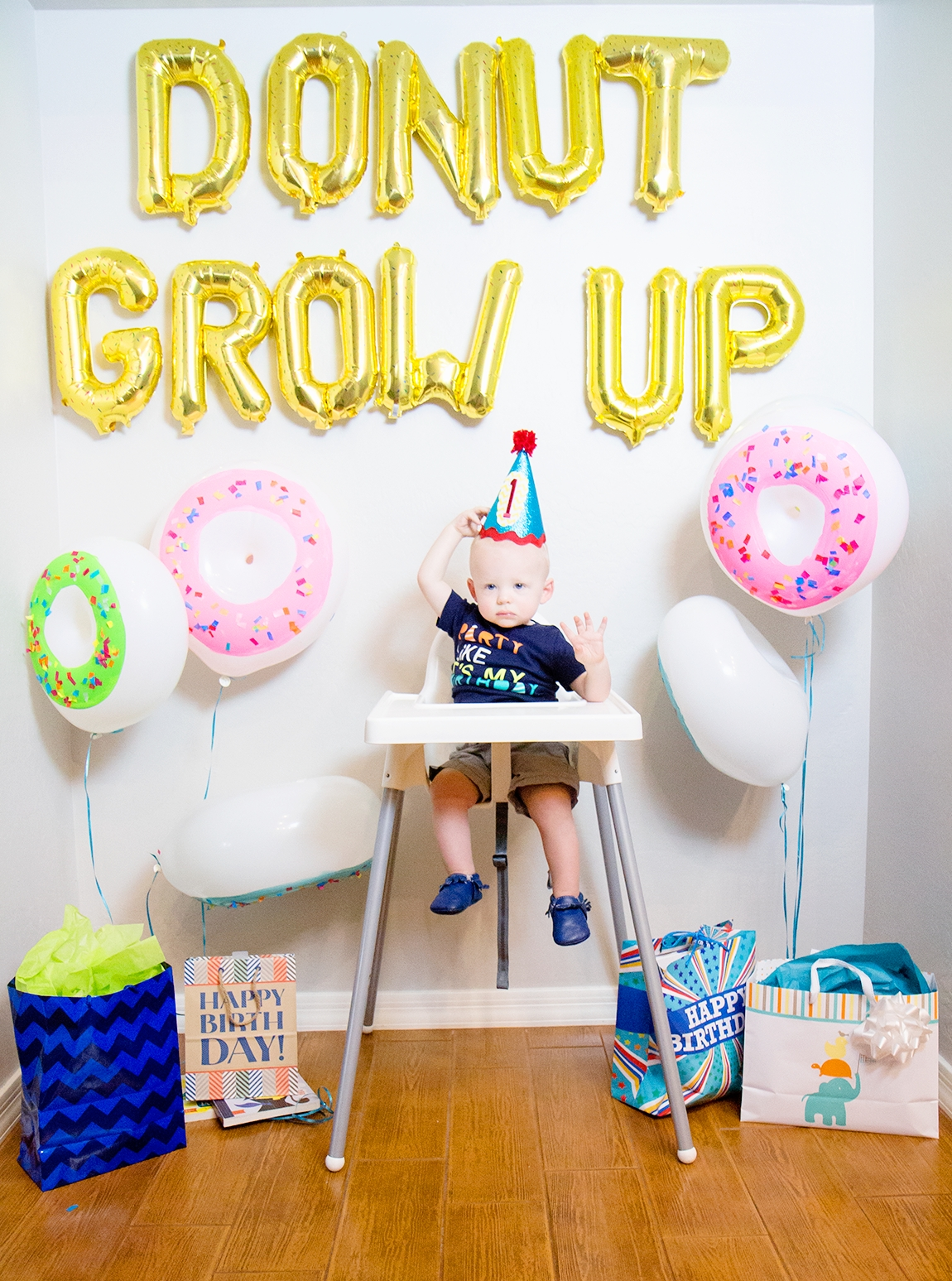 donut grow up 1st birthday party - friday we're in love