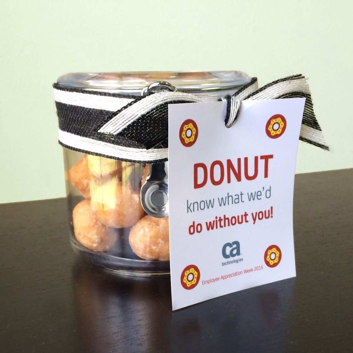 "donut know what we'd do without you!"" jar with donuts 