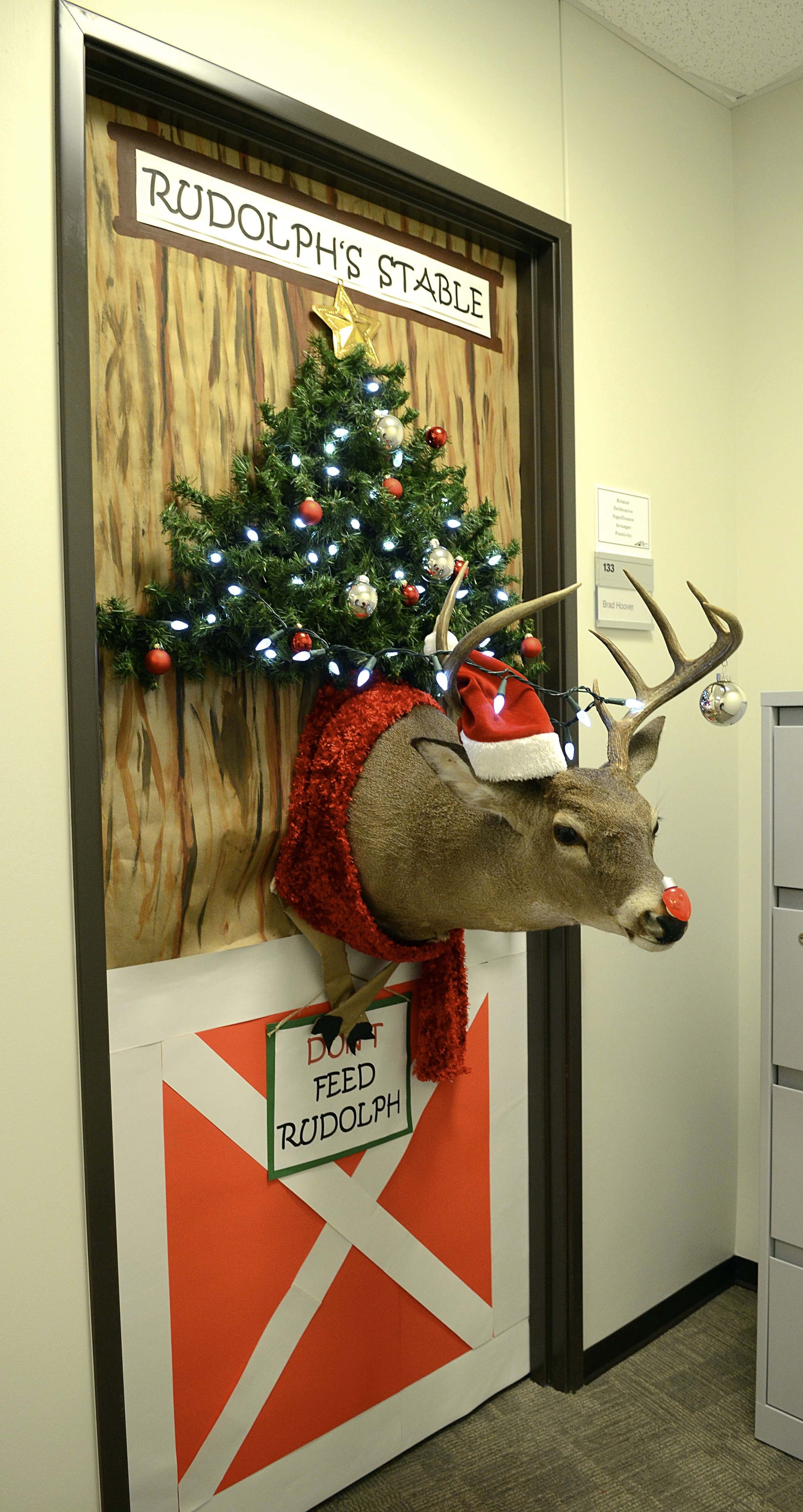 door decoration contest sparks new tti tradition | christmas door