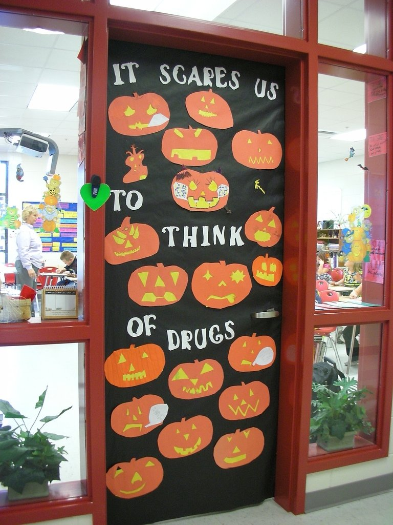 10 Lovable Red Ribbon Door Decorating Ideas door decorations for red ribbon week it scares us to think flickr 2020