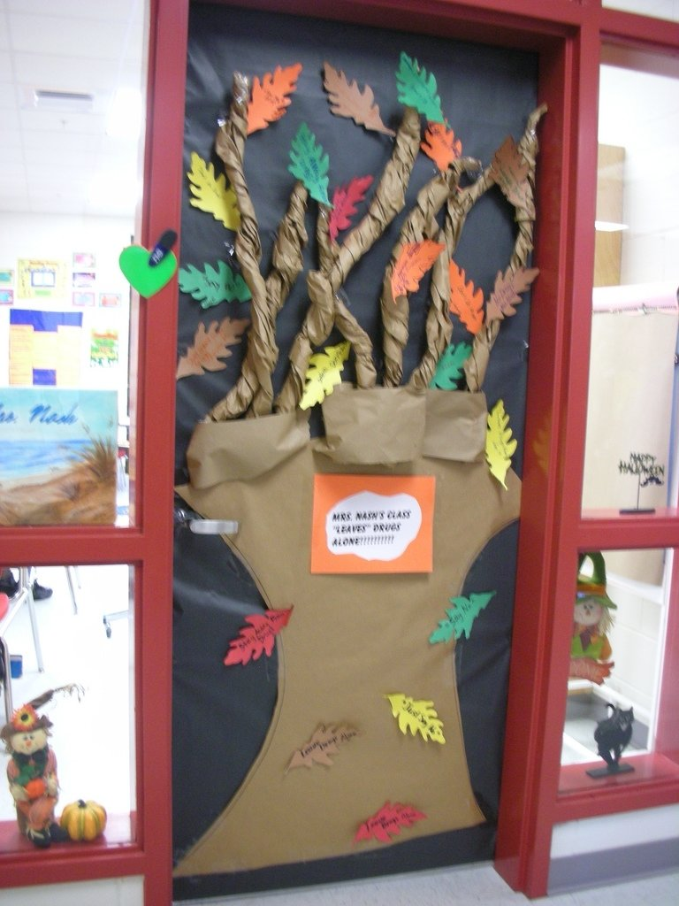 10 Great Red Ribbon Week Door Decorating Ideas door decorations for red ribbon week mrs ns class leaves flickr 2020