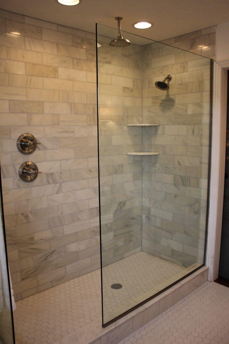 10 Spectacular Doorless Walk In Shower Ideas doorless walk in shower designs shower handle on separate wall 1
