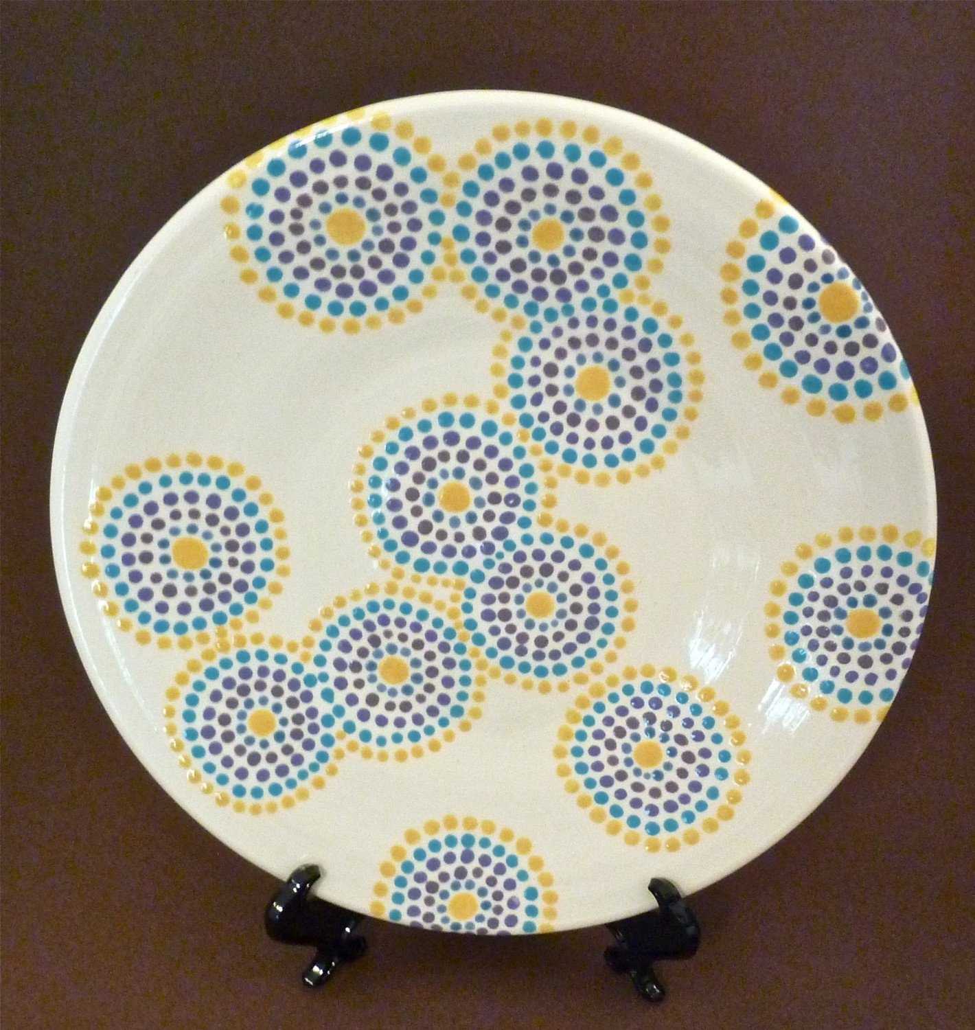 10 Fashionable Paint Your Own Pottery Ideas dotty circles plate pottery pottery ideas and pottery painting 2020