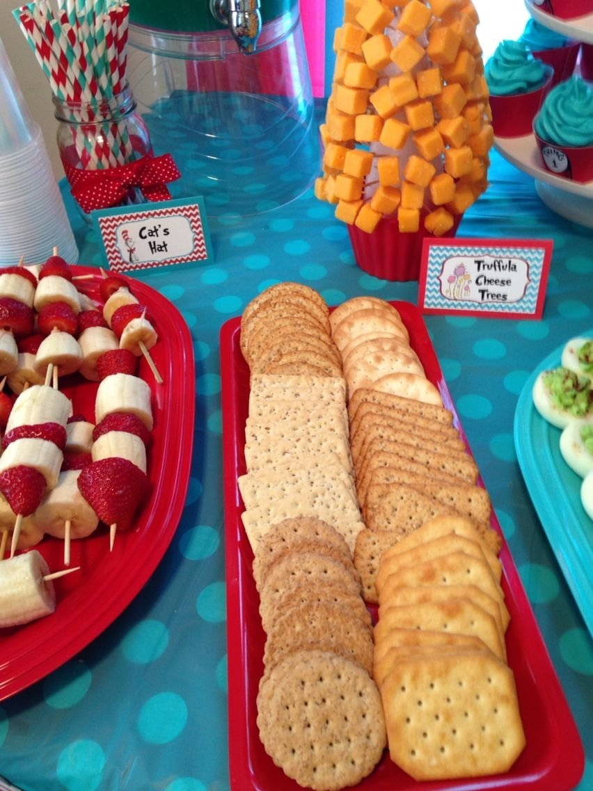 dr. seuss birthday party food ideas truffala cheese tree: cheese and