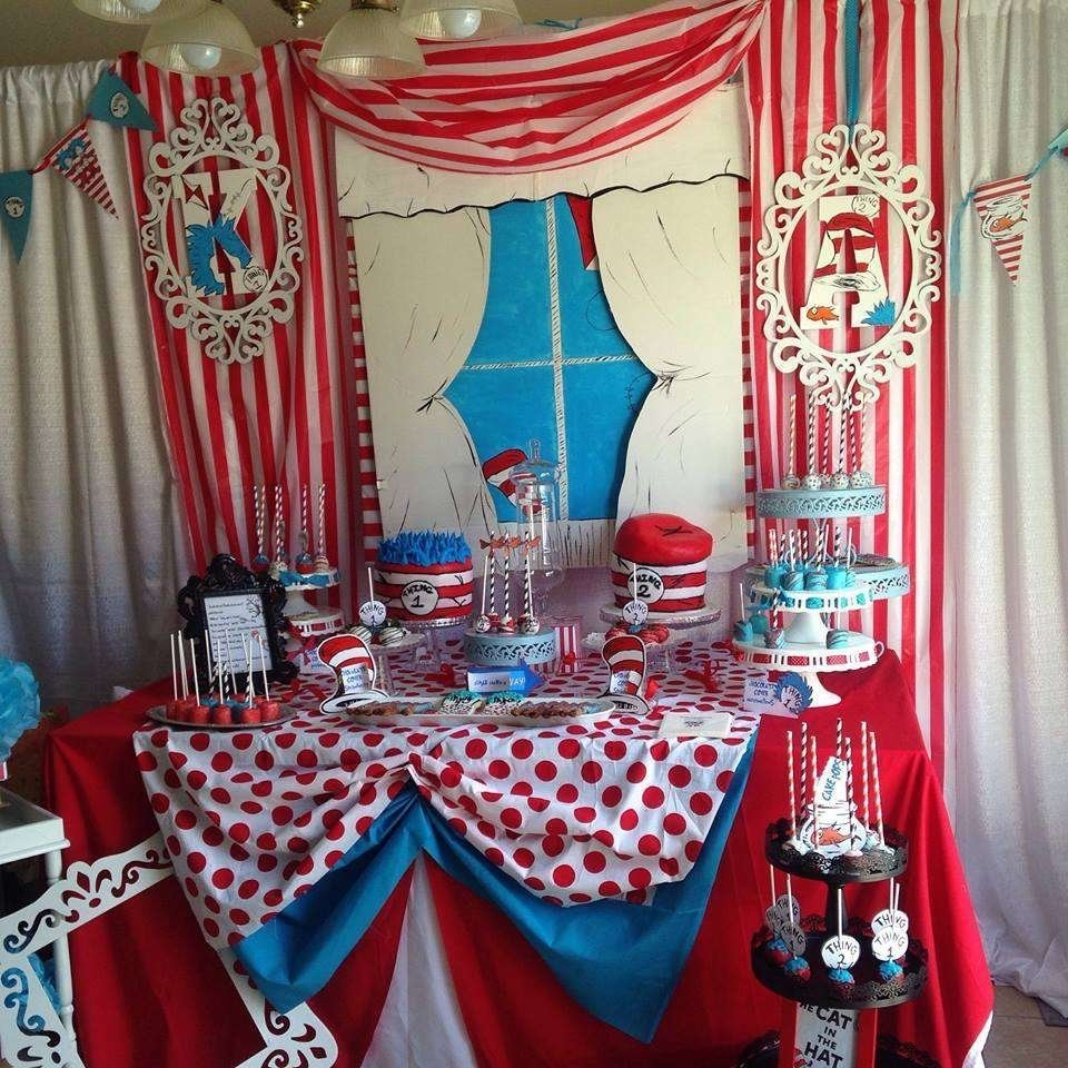 10 Lovely Thing 1 And 2 Birthday Party Ideas Dr Seuss