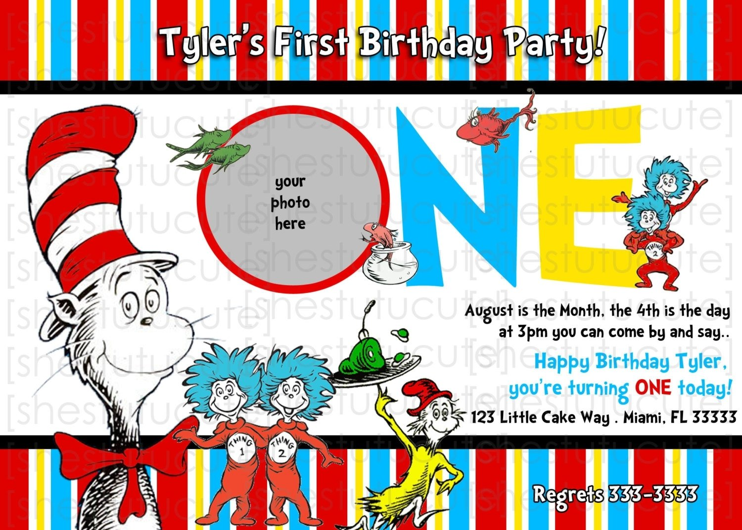 10 Nice Dr Seuss 1St Birthday Party Ideas dr seuss birthday party invitations ideas invitations card review 2020