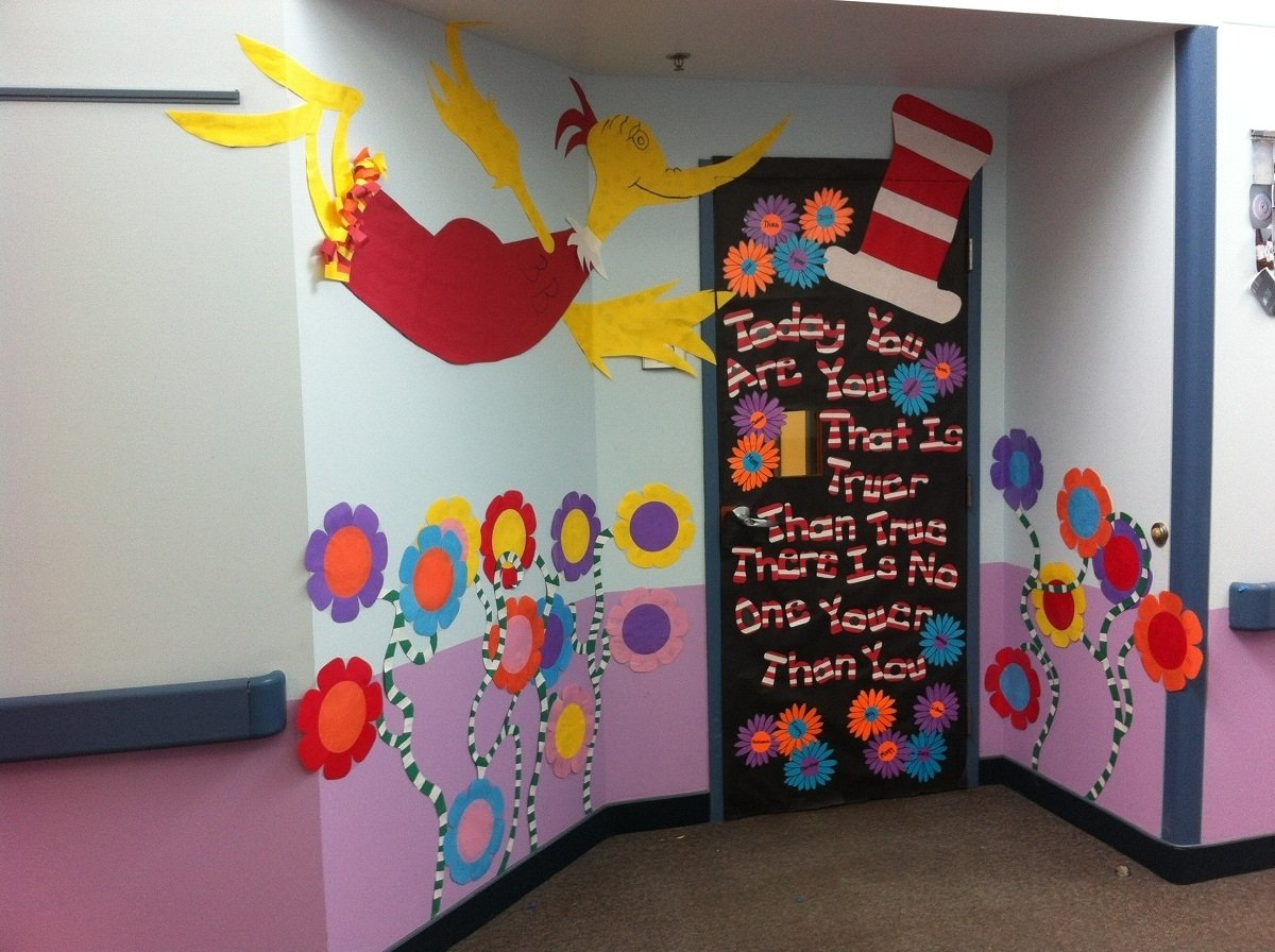 10 Attractive Dr Seuss Classroom Decorating Ideas dr seuss door design party new decoration dr seuss door 2 2020