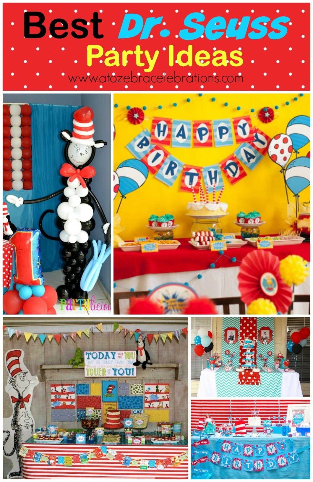 10 Beautiful Cat In The Hat Birthday Party Ideas dr seuss party ideas a to zebra celebrations 1 2020