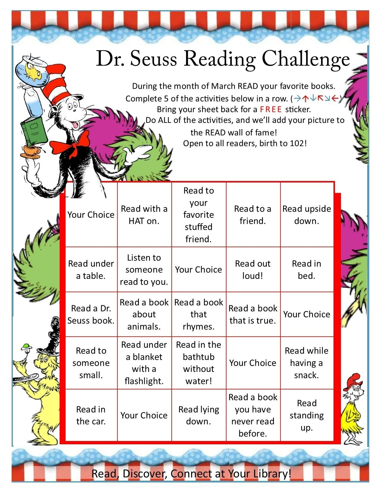 10 Stylish March Is Reading Month Ideas dr seuss reading challenge seuss pinterest reading challenge 2020