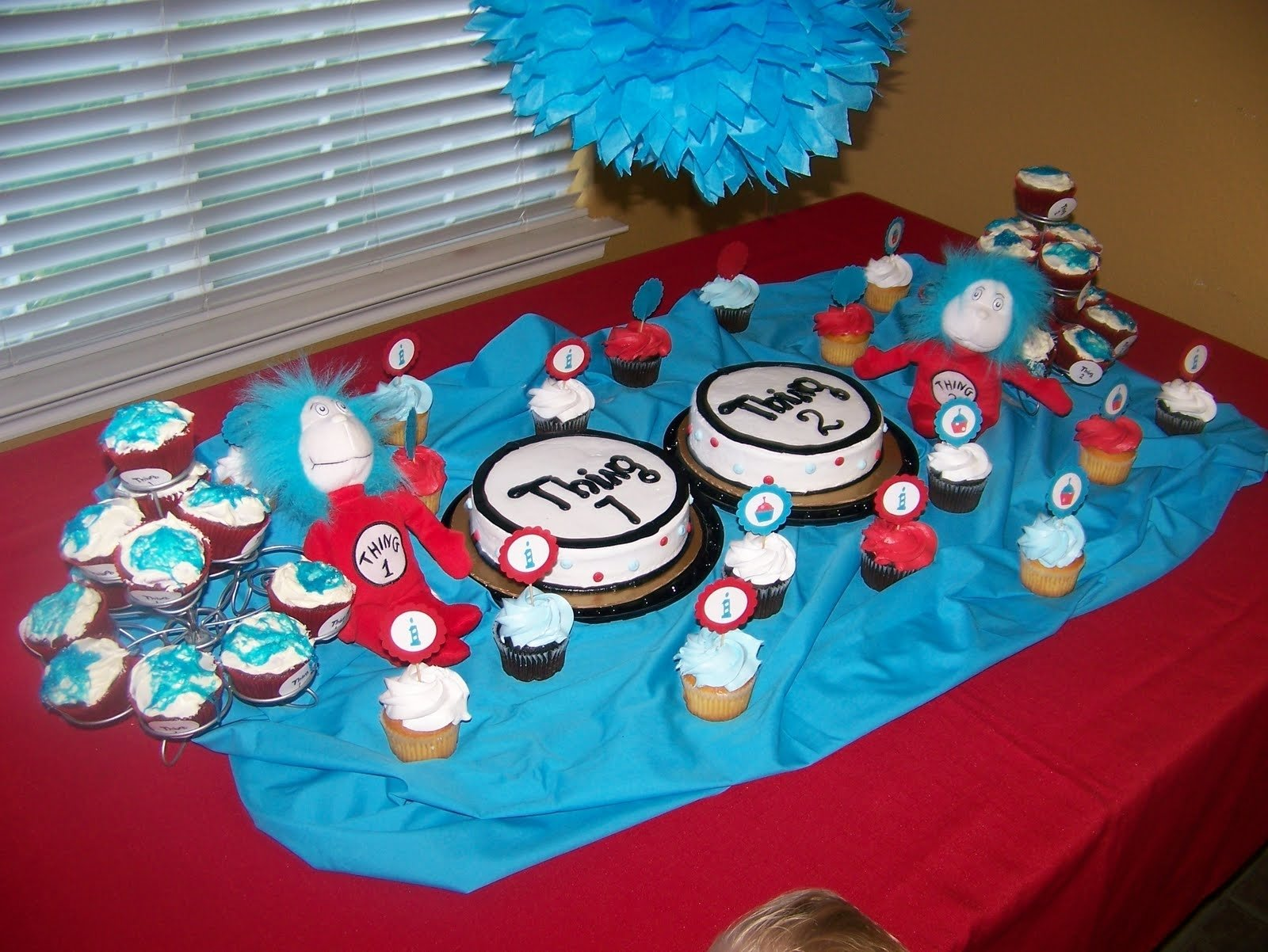 10 Awesome Thing 1 And Thing 2 Cake Ideas dr seuss thing 1 thing 2 birthday party giggles galore