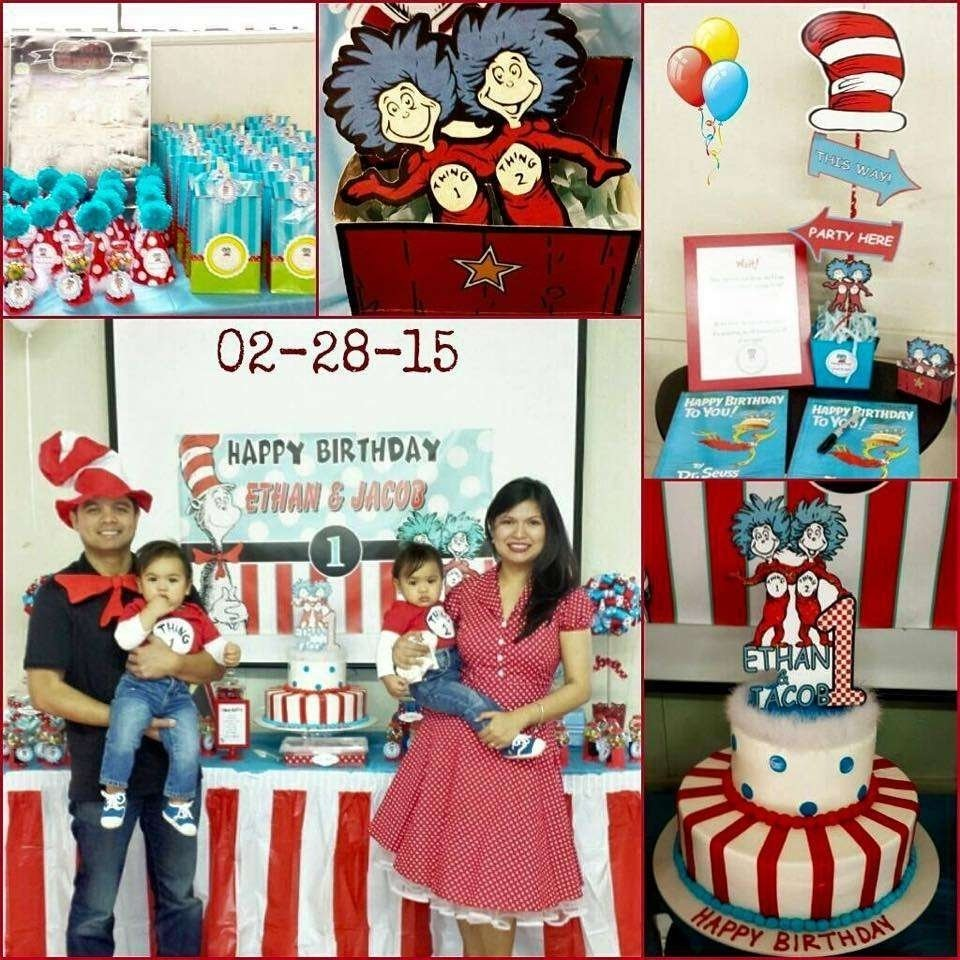 10 Trendy Thing 1 And Thing 2 Party Ideas dr seuss thing 1 thing 2 twin boys first birthday party birthday 1 2020