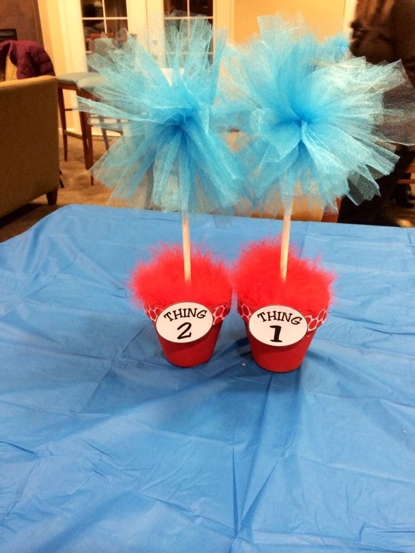 10 Fantastic Thing 1 And Thing 2 Baby Shower Ideas dr seuss thing one and thing two twin baby shower 2021