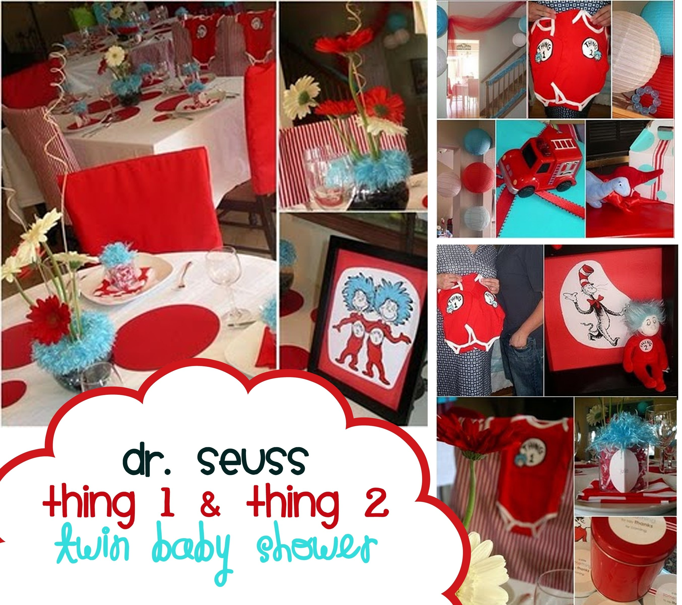 10 Cute Baby Shower Ideas For Twin Boys dr suess baby shower bing images party on pinterest dr 4