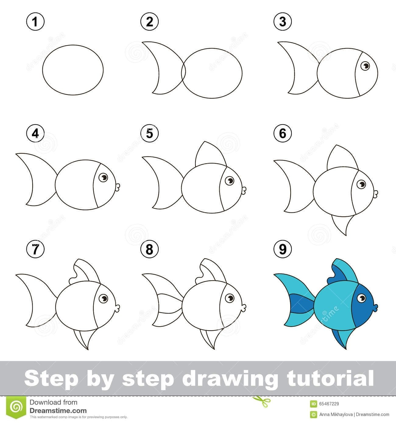 10 Attractive Drawing Ideas Step By Step drawing for kids stepstep drawing tutorial how to draw cute fish 1