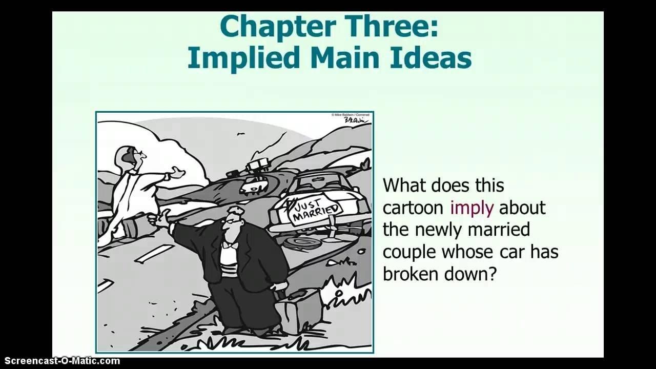 dre reading: implied main idea - lessons - tes teach