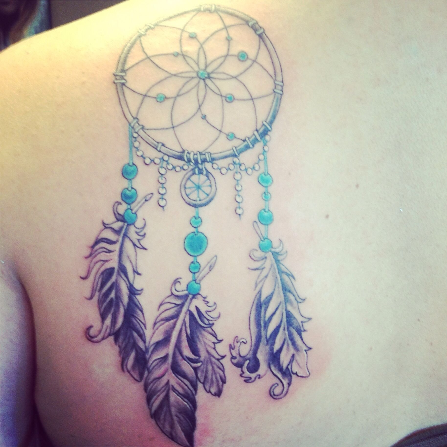 10 Attractive Tattoo Ideas For Shoulder Blade dreamcatcher shoulder blade tattoo tattoos pinterest tattoo 2020