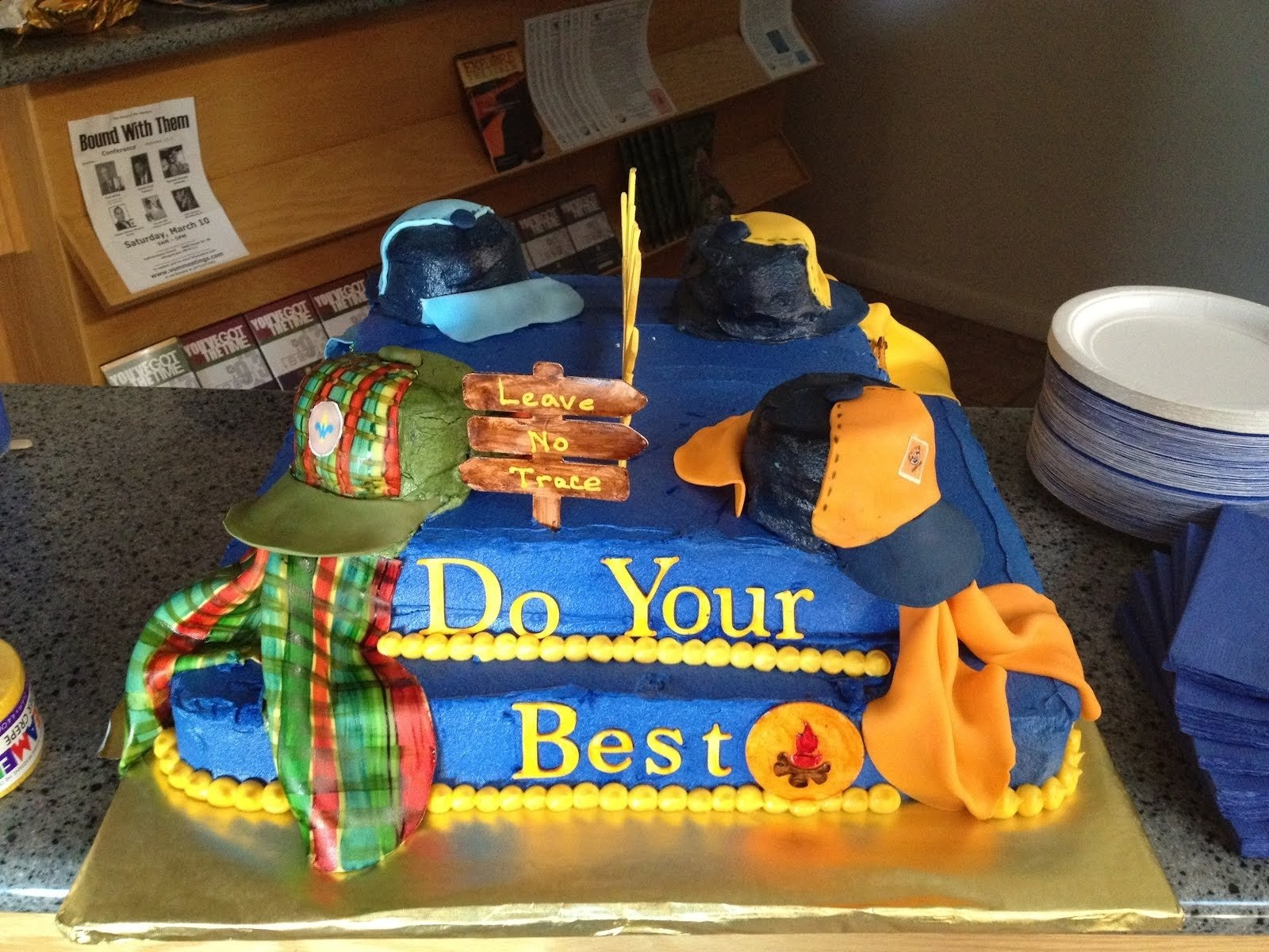 10 Cute Cub Scout Cake Decorating Ideas dreaming in buttercream cub scout blue and gold cake 2020